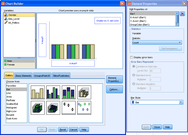 A Clustered Bar Chart In Spss Statistics Selecting The