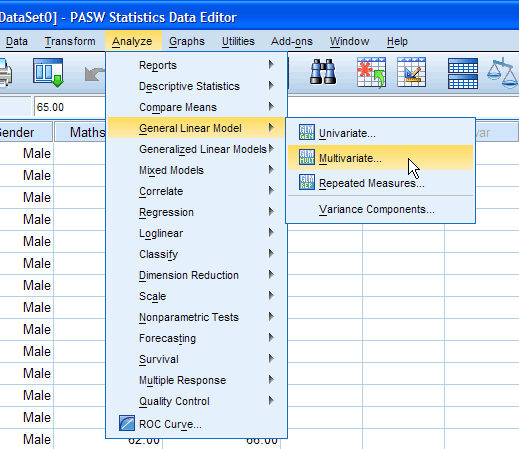 One-way MANOVA in SPSS Statistics - Step-by-step procedure