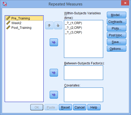 One-way ANOVA with repeated measures in SPSS Statistics - Step-by
