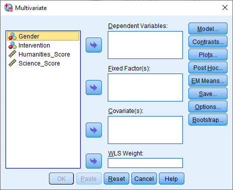 How to perform a two-way MANOVA in SPSS Statistics | Laerd