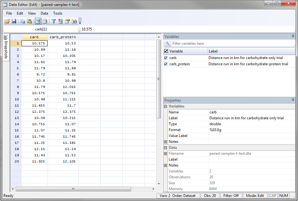 Paired t-test in Stata - Procedure, output and interpretation of ...
