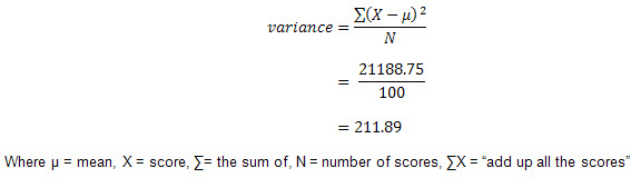 absolute deviation variance how and when to use these measures